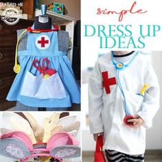 Our Top 20 Super Simple Dress Up Ideas are great for kids who love to dress up! Wearing the right clothes, whether it's a crown, swirling ballet skirt or Little Girl Dress Up, Girls Dress Up, Dress Up Outfits, Up Girl, Kids Outfits, Toddler Dress Up Clothes, Toddler Girl Dresses, Baby Dresses, Toddler Girls