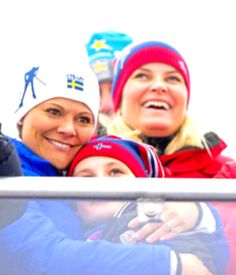 Princess Ingrid with godmother Crown Princess Victoria, February 27, 2015