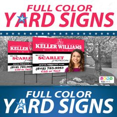 Yard Signs  order online   www.ldpprint.com  1-800-418-8157 #Yardsigns #Realestate #Design