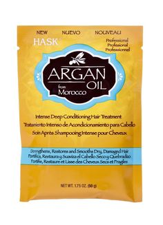 Hask Argan Oil From Morocco Intense Deep Conditioning Hair Treatment 1.75 Ounce Pack