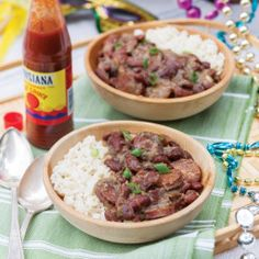 Red Beans and Rice Creole Recipes, Cajun Recipes, Bean Recipes, Side Dish Recipes, Crockpot Recipes, Haitian Recipes, Donut Recipes, Ham And Beans, Red Beans