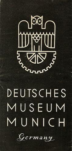 Deutsches Museum Munich, Germany - information leaflet, c1936, via Flickr.