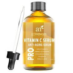 Enhanced Vitamin C Serum with Hyaluronic Acid 1 Oz -Top Anti Wrinkle Anti Aging Repairs Dark Circles