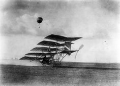 Bizarre multiplane concept of Professor Jerome S. Zerbe, California. Its one and only 'flight' took place at the L.A airshow at Dominguez field,1910. It never took off and crashed when it hit a pothole.