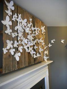 Эффект бабочки: 9 идей дизайна для стен. Butterfly Wall ArtWhite ...