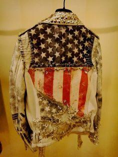 fashion, flag, cloth, style, star, jean jackets, rock, safety pins, stripe