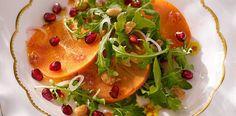 Persimmon, Blood Orange and Pomegranate Salad