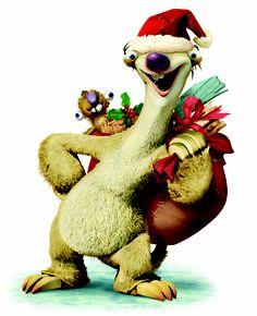 Sid does Santa Claus. Christmas Mood, Xmas, Christmas Ornaments, Ice Age 4, Disney, Anime, Santa, Cartoon, Holiday Decor