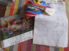 "Vtg JLT ""Every Home Should Have A Gnome"" Needlepoint Craft Kit 10"" HILDA Mom #JLT"