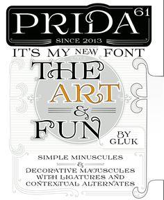 Art Noveau free font Prida61 by gluk