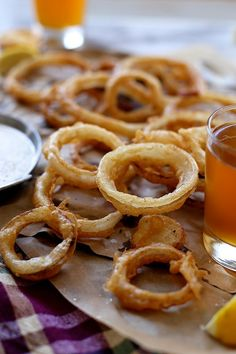 Beer Battered Onion Rings with Buttermilk Ranch Dip