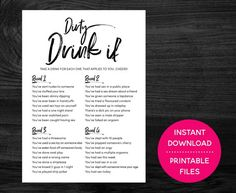 Naughty Drink If Bachelorette Game, Hen Night Willy Game, Bridal Shower Game, Dirty Drinking Hens Party Game, Funny Wedding Game Printable - Best Party Ideas 2019 Funny Wedding Games, Shoe Game Wedding, Wedding Humor, Funny Games, Drinking Games For Couples, Drinking Games For Parties, Hen Party Games, Birthday Party Games, Couple Games For Party