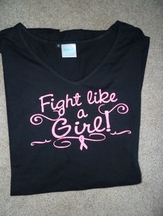 Fight like a Girl breast Cancer maternity shirt SALE. $5.00, via Etsy.
