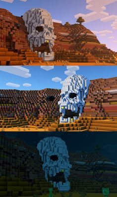 My skull design^^ What do you guys think? Minecraft Skull, Plans Minecraft, Minecraft Statues, Minecraft Structures, Minecraft Survival, Minecraft Tutorial, Minecraft Blueprints, Minecraft Designs, Minecraft Buildings