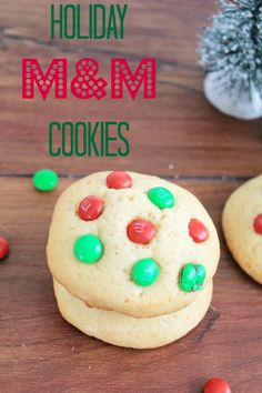 Holiday Cookie Recipes: M&Ms Cookies