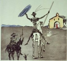 Don Quixote- this might not actually be in a journal, but I loved the drawing technique and color.