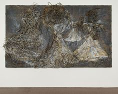 Anselm Kiefer ,  Die Erynnien 2006 Oil,emulsion,acrylic on canvas whit barbed whire 190x330x30cm