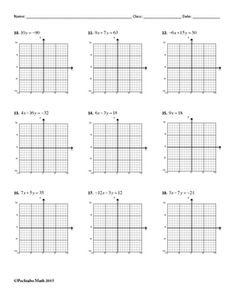 Writing Linear Equations (horizontal and vertical lines ...