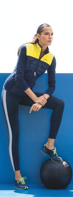 Lauren Ralph Lauren activewear: a color-blocked legging is a must-have for the gym.