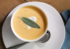 Roasted Butternut Squash Soup with Sage Cream - Bon Appétit