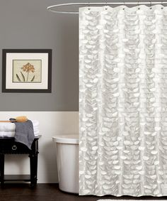 Take a look at this Triangle Home Fashions White Georgia Shower Curtain by Triangle Home Fashions on #zulily today!