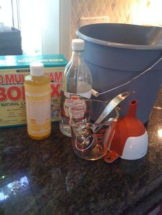 This is the all purpose cleaner I actually made.  Water, Borax, Castile Soap, and Vinegar.  I also added a little orange fragrance oil and I used peppermint Castile Soap... smells so good and clean :) Works!  Just mix it in something else before putting it in a spray bottle so the Borax dissolves.