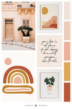 Home Decor Trend Color Palette Bedroom Colour Palette, Modern Color Palette, Colour Pallete, Modern Colors, Colour Schemes, Color Trends, Modern Color Schemes, Orange Pastel, Orange Blush