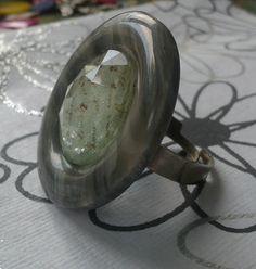 Grey Sparkle Ring Handcrafted by Shen Bettridge Email shenbettridge@gmail.com