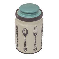 Pote Cutlery Branco/Azul