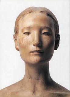 Katsura Funakoshi, Japanese sculptor, b. Portrait Sculpture, Sculpture Head, Sculptures Céramiques, Wood Sculpture, Michel De Montaigne, Ceramic Figures, Art Walk, Wooden Art, Oeuvre D'art
