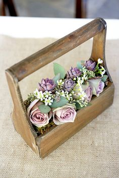 Lovely colorplay, muted lavender and sage green