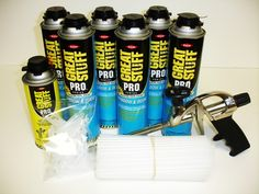 A Warehouse Full! - Dow Great Stuff PRO Window Door Foam Kit with Cleaner Foam Gun   100 tapered nozzle tips   100 extender straws FREE SHIPPING, $119.00 (http://www.awarehousefull.com/dow-great-stuff-pro-window-door-foam-kit-with-cleaner-foam-gun-100-tapered-nozzle-tips-100-extender-straws-free-shipping/)