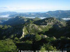 Going to Covadonga lakes road, Peaks of Europe mountains, Asturias.