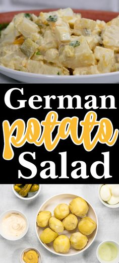 This German Potato Salad recipe is easy and delicious. Tender potatoes are combined with protein-rich eggs and chopped pickles. The dressing is simply mayonnaise and pickle juice. Easy German food at its best. #cheerfulcook #potatosalad #lunch #germanfood #germanpotatosalad ♡ cheerfulcook.com