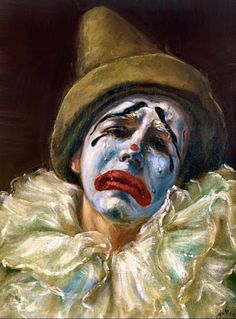 Image detail for -Palyaço - Clown Gruseliger Clown, Clown Faces, Circus Clown, Creepy Clown, Clown Mask, Sad Paintings, Clown Paintings, Pierrot Clown, Red Skelton