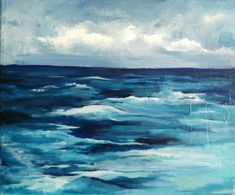 Acrylic seascape on canvas by Nurten Koçboğan