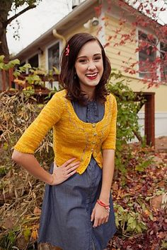 Beulah Cardigan  by Mercedes Tarasovich-Clark    Published in  Knitscene, Spring 2012