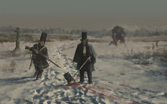 1863 - don't  lose your head, Jakub Rozalski on ArtStation at https://www.artstation.com/artwork/3wZvY