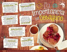 ¿Cuál es la importancia de desayunar? Muchas personas desconocen realmente cuál es la importancia de desayunar y los beneficios de este hábito sobre nuestra salud.   ¡Descubre todo acerca de este tema en la siguiente infografía!  #nutricion #verduras #frutas #alimentos #salud #beneficios #tips #saludable