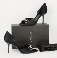 Gucci D'orsay Swarovski Black Pumps
