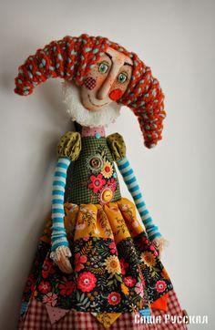 Куклы с человеческим лицом – 25 фотографий Fabric Dolls, Fabric Art, Paper Dolls, Handmade Toys, Handmade Art, Marionette, American Girl Crafts, Gothic Dolls, Monster Dolls