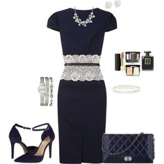 Work Outfit in Navy created by tsteele