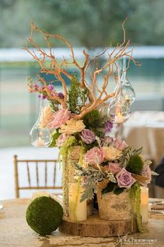 Enchanted Wedding Centerpiece by Floral Events, Jonathan Ivy Photography - Beaux & Belles: An Event Planning Blog #enchantedwedding #floralevents #centerpiece #beauxandbelles