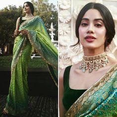 Most Glam Bridesmaid Outfit Ideas We Spotted at Dress Indian Style, Indian Fashion Dresses, Indian Designer Outfits, Fashion Outfits, Womens Fashion, Bandhani Saree, Sari Dress, Saree Blouse, Sleeveless Blouse