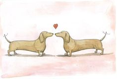 """Weiner Love"" by poordogfarm on Etsy"