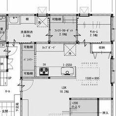 女性で、のファミリークローゼット/動線/間取り/サンルーム/間取図/部屋全体…などについてのインテリア実例を紹介。「大きなお家でもないのに洗面+ファミリークローゼット+サンルームを広くとりすぎてもったいない気がする。。。どうなんでしょう?」(この写真は 2016-02-29 00:23:39 に共有されました) My House Plans, House Floor Plans, Morden House, Craftsman Floor Plans, Japanese Interior, Japanese House, Interior Design Living Room, Building A House, Layout