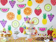 Colorful Tutti Frutti Birthday Party on Kara's Party Ideas | KarasPartyIdeas.com (36)