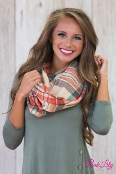 Before The Dawn Plaid Scarf Cream Fall Outfits, Cute Outfits, Pink Lily Boutique, Cute Scarfs, The Most Beautiful Girl, Plaid Scarf, Dawn, Shop Now, Autumn Fashion