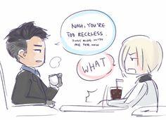 yurio wants to be cool like otabek! - niki's art