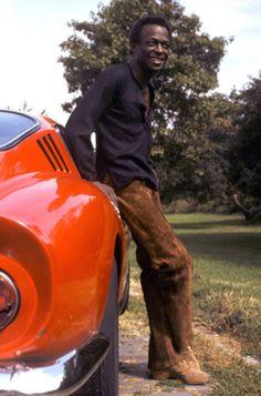 Miles Davis, Red Ferrari, New York City, 1969 – Image by © Baron Wolman